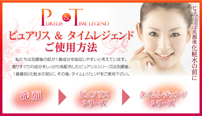 Purelis&Time legend ピュアリス&タイムレジェンドご使用方法